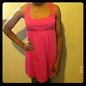 Mossimo junior dress size S pink criss cross back